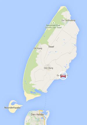 Google Map Havenhotel Texel